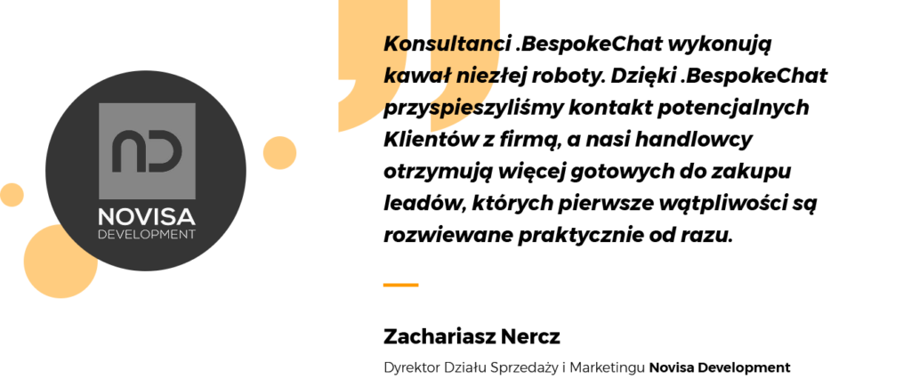 .BespokeChat testimonial Novisa Development