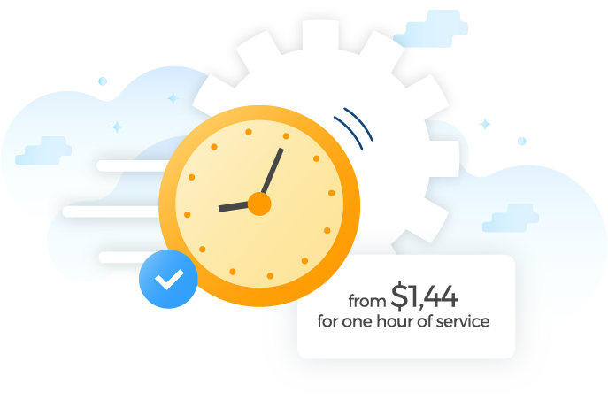 $1,44 for one hour of service