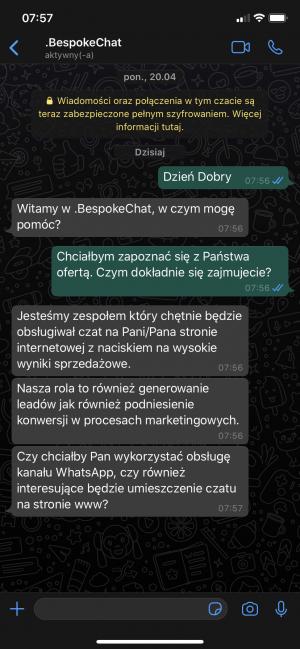 WhatsApp zapis rozmowy